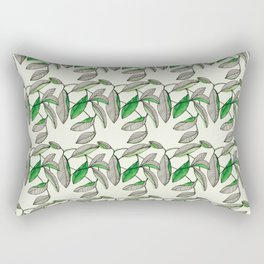 Watercolor Leaves Rectangular Pillow