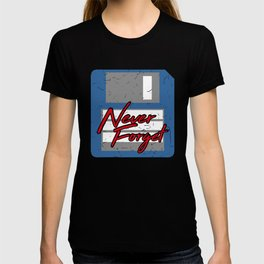 Never Forget | Retro Floppy Disk T-shirt