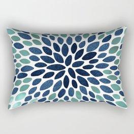 Festive Floral Bloom Rectangular Pillow