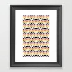 August Chevron Framed Art Print