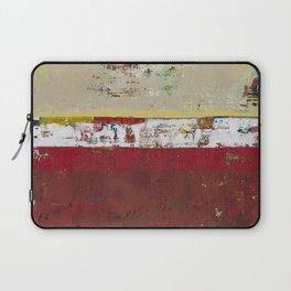 Buffalo Indian Red Burgundy Modern Abstract Art Laptop Sleeve
