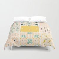 quilt Duvet Covers featuring Grandma's Quilt by 83 Oranges™