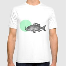 mint bubble White MEDIUM Mens Fitted Tee