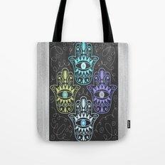 Hamsa Chalk Tote Bag