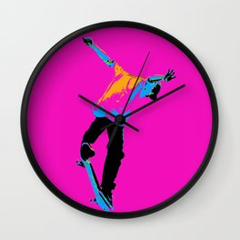 """Flipping the Deck"" Skateboarding Stunt Wall Clock"