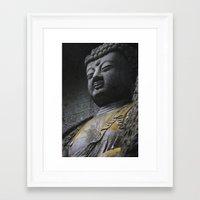 buddah Framed Art Prints featuring Buddah  by Scene by Emily