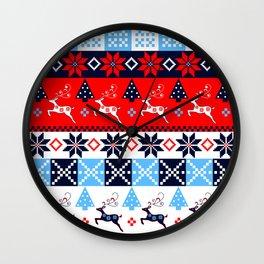 Scandinavian holidays pattern design Wall Clock