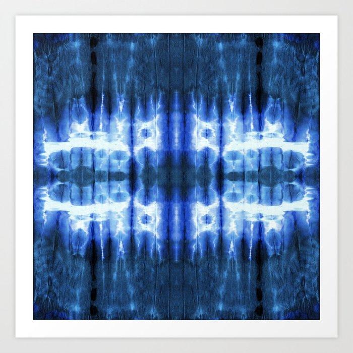 Lapis Shibori Stripe Art Print