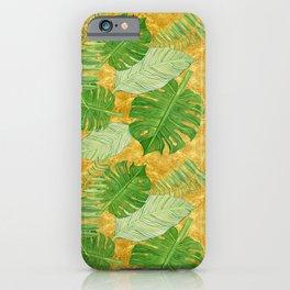 Tropical Leaf Mix IV iPhone Case