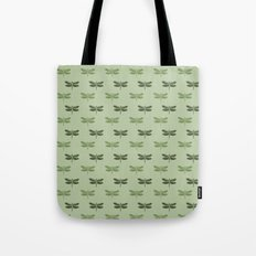 Green Dragonflies Tote Bag