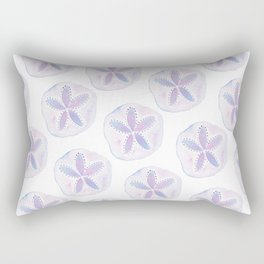 Mermaid Currency - Purple Sand Dollar Rectangular Pillow