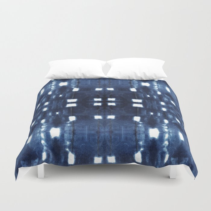 Shibori City Blue Bettbezug