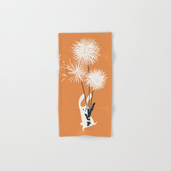 Bunny and Dandelion Bouquet Hand & Bath Towel