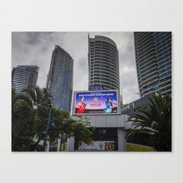 Giant Screen Surfers Paradise Canvas Print
