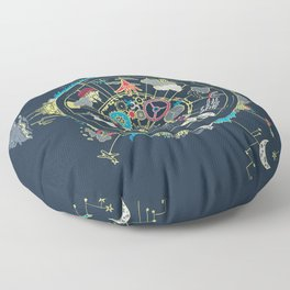 Running Like Clockworld Floor Pillow