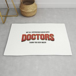 The real super heroes - A homage to professionals working hard during de pandemic. Rug