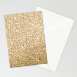 Modern abstract elegant chic gold glitter Stationery Cards