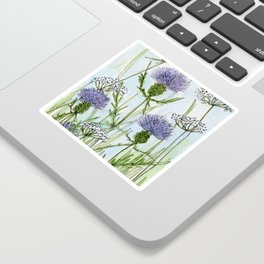 Thistle White Lace Watercolor Sticker
