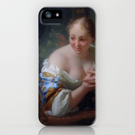 "Godfried Schalcken  ""Young woman in front of a mirror"" iPhone Case"