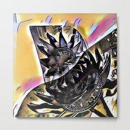 Cabsink17DesignerPatternCOCT Metal Print