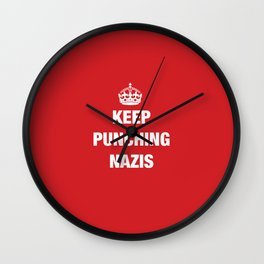 Keep Punching Nazis Wall Clock
