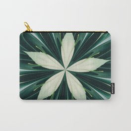 White Leaves In A Green Forest Kaleidoscope Carry-All Pouch