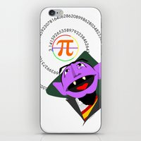 pi iPhone & iPod Skins featuring Count Pi by tuditees