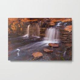 Small waterfall in the Hancock Gorge, Karijini NP, Western Australia Metal Print