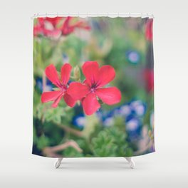 Independence Day Floral Shower Curtain