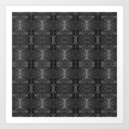 zakiaz blk&gray abstract design Art Print