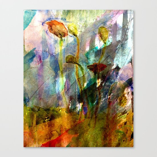 flowers on the field Canvas Print