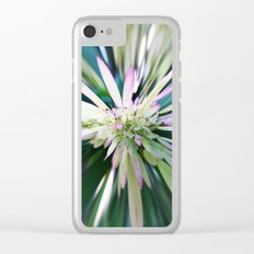 447 - Abstract Flower Design Clear iPhone Case