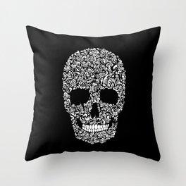 Inverse Skull Throw Pillow