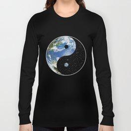 Earth / Space Yin Yang Long Sleeve T-shirt