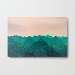 Magical Surreal Mountainous Landscape Metal Print