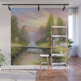 Pink sunset tune Wall Mural