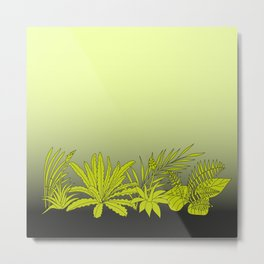 Gradient square border background with tropical epiphytes Metal Print
