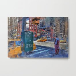 NYC Times Square Manhattan Brooklyn New york city Decor Wall Art Oil Painting Acrylic Metal Print