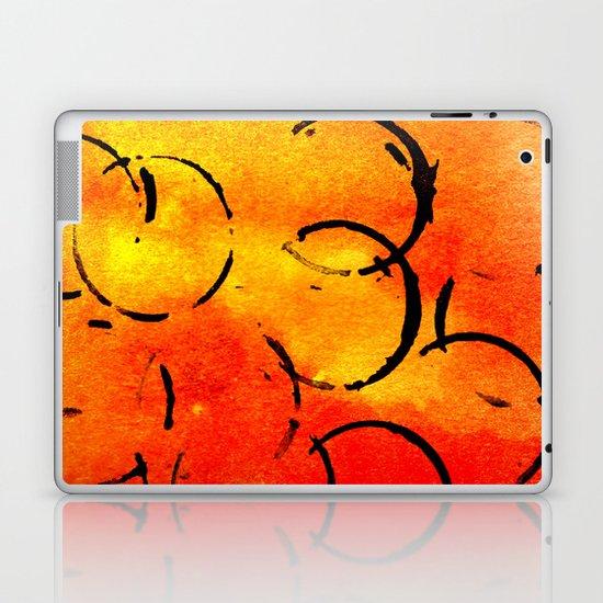 dotted Orange Laptop & iPad Skin