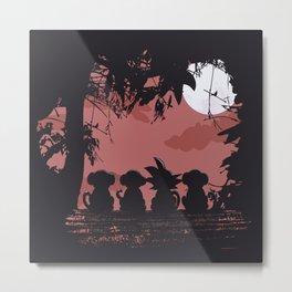 3 Monkeys and 1 Legend Metal Print