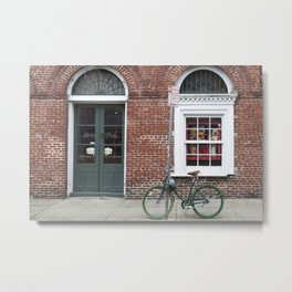 New Orleans Green Bicycle Metal Print
