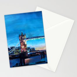 London Tower Bridge and The Shard at Dusk Stationery Cards