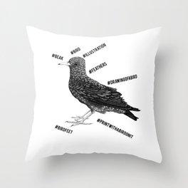 #bird Throw Pillow