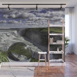 Gulfoss in Crystal Ball 1 Wall Mural