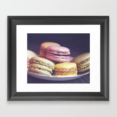 macarons on the windowsill Framed Art Print