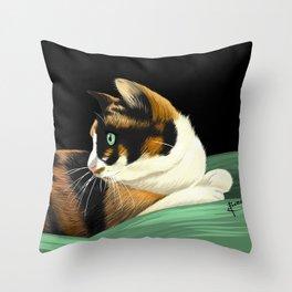 My lovely cat Throw Pillow