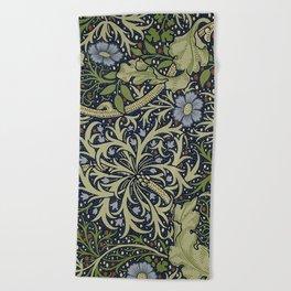 William Morris Seaweed Pattern Beach Towel
