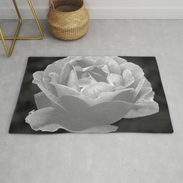 Silver Satin Rose - My Love For You Rug