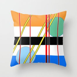 Abstract Lines and Speres Throw Pillow