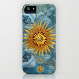 """Saturn mandala celestial vault"" iPhone Case"